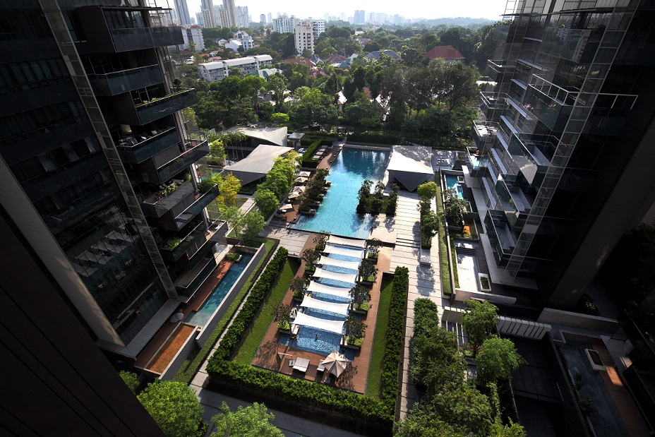 The buyer of a garden suite at Leedon Residence was drawn to SCDA Architects' design for the project, which features lush greenery on the 4.9ha freehold site - EDGEPROP SINGAPORE