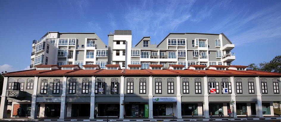 Completed in 2015, Icon@Pasir Panjang is a mixed-use development with 31 strata shops and 18 apartments