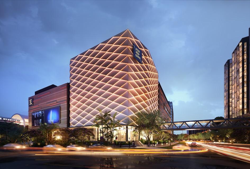 The retail mall of the Paya Lebar Quarter integrated development