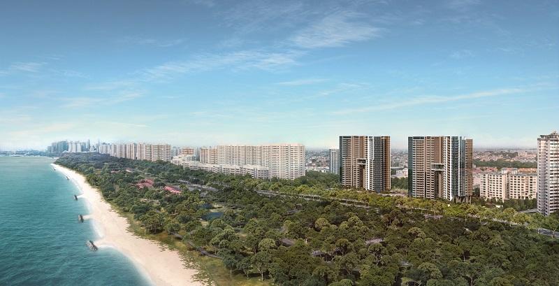 Seaside Residences at East Coast, where units have unblocked sea views