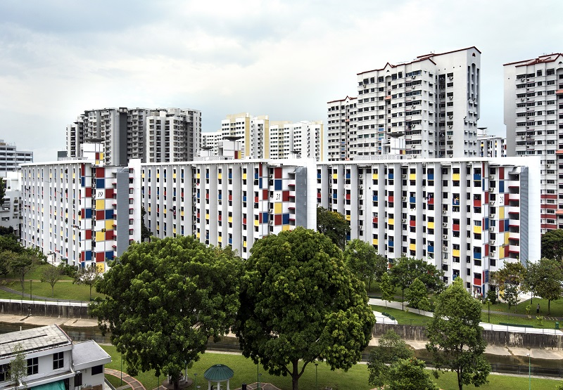 MACPHERSON -  The HDB blocks on Balam Road stand out with their red, yellow and blue façade