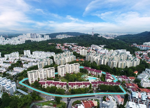 Aerial view of Goodluck Garden at Toh Tuck Road