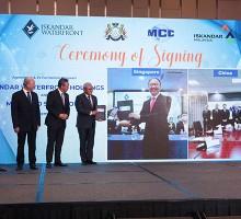 Iskandar Waterfront Holdings and MCC Singapore sign deal for $2.6 bil Johor property venture - EDGEPROP SINGAPORE